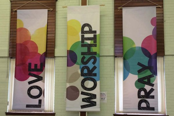 love worship pray banners